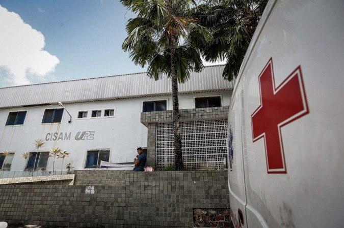RECIFE, PE, 17.08.2020 - Hospital CISAM, da UPE, no bairro da Encruzilhada, zona norte do Recife, nesta segunda-feira (17)