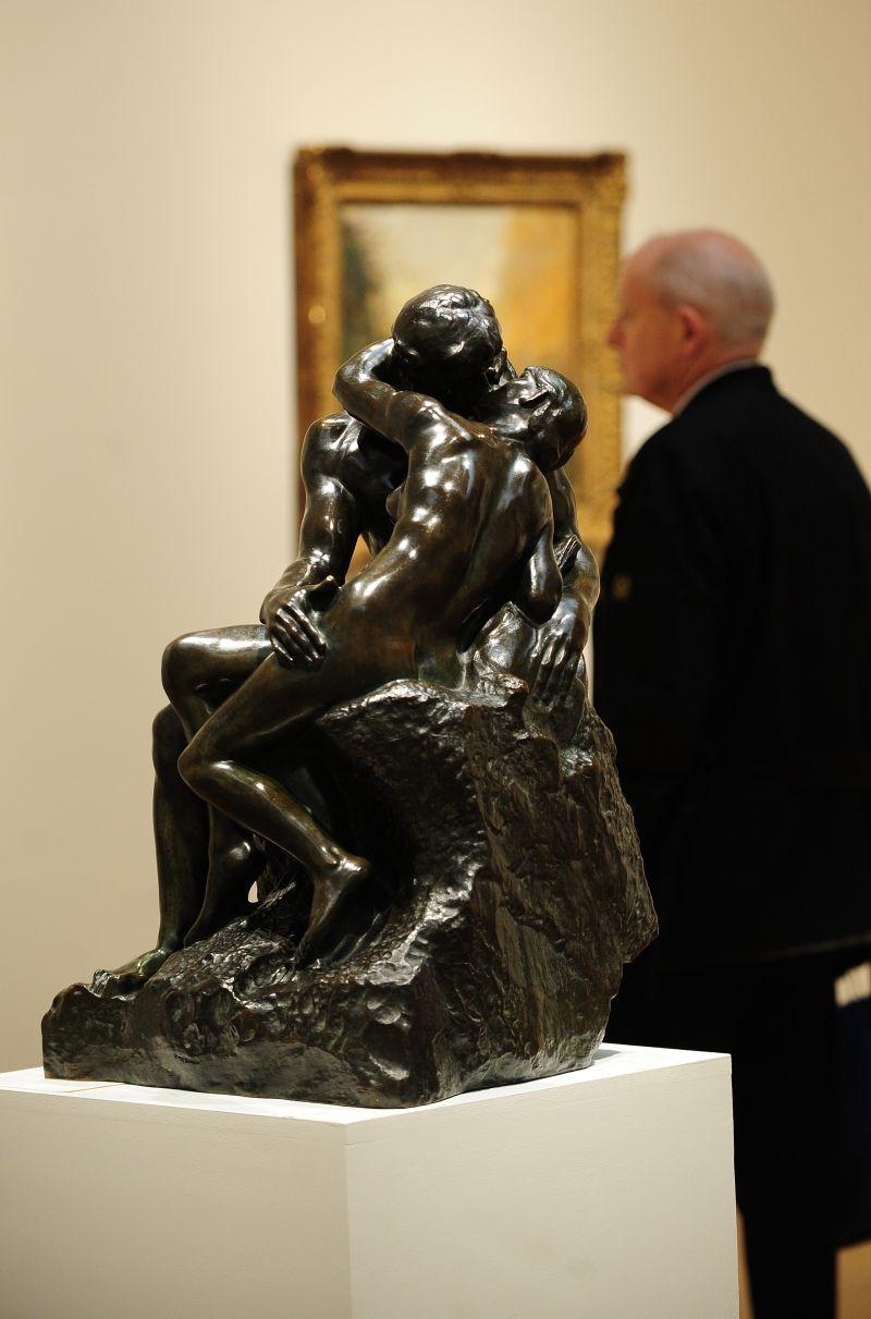 Escultura O beijo, de Auguste Rodin