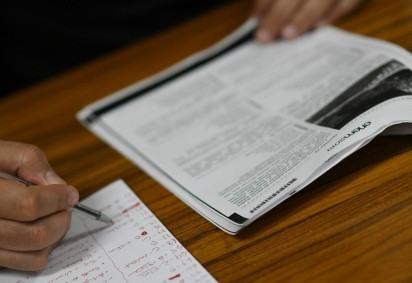 ENEM 2020 contará com quase 600 mil candidatos treineiros -  (crédito: Ed Alves/CB/D.A Press. Brasil)