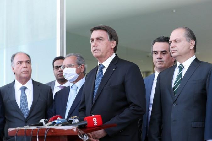 Bolsonaro anunciou ainda que enviará a reforma administrativa ao Congresso na quinta-feira (3/9) -  (foto: Marcos Corrêa/PR)