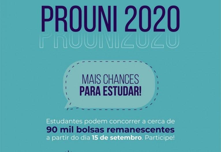 MEC anuncia 90 mil vagas remanescentes para o ProUni