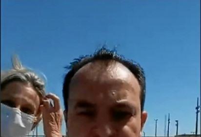 Pábio disse que tirou a máscara para discursar. Já Tullio usou proteção, mas reuniu apoiadores no carro de som