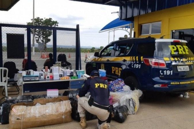 A mercadoria seria revendida em Brasília -  (crédito: Divulgação/PRF)