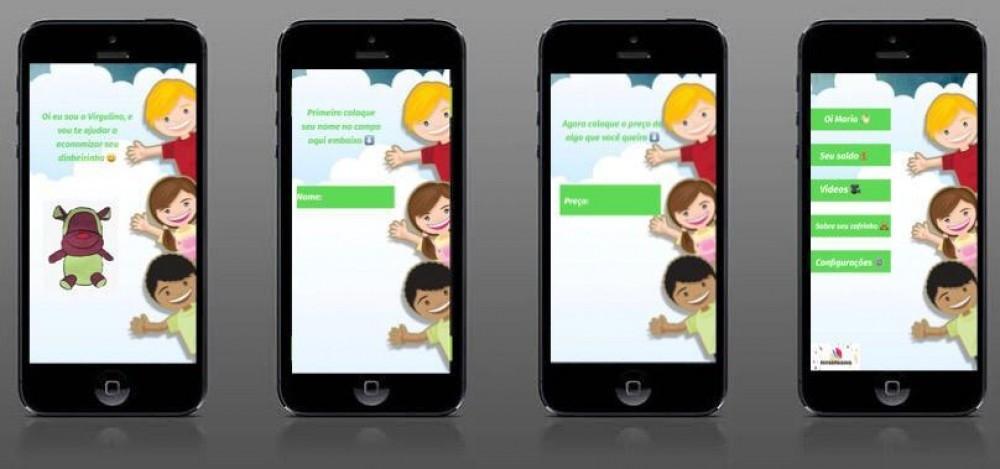 Protótipo do aplicativo que contará com jogos e dicas sobre educação financeira