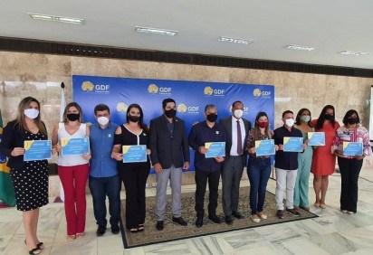 Cerimônia de entrega do Prêmio Gestão Escolar do DF ocorreu no Palácio do Buriti -  (crédito: Reprodução/Instagram)