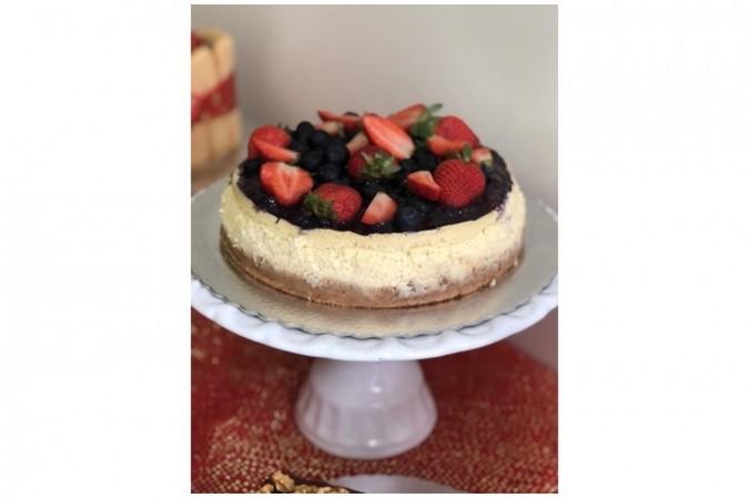 Cheesecake de frutas vermelhas, de Isabela Vitorino