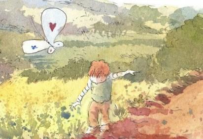 Ilustrações são feitas à mão com tinta nanquim e aquarela e depois digitalizadas para a postagem das tirinhas -  (crédito: Reprodução/Caetano Cury)