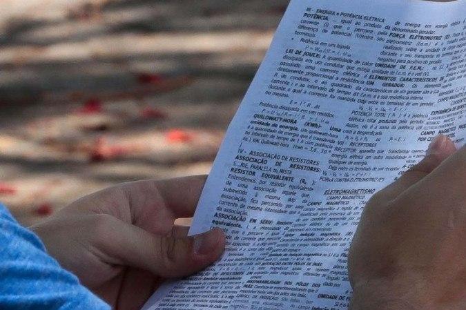 As inscrições são para acadêmicos que desejam elaborar as questões nos bancos do Inep  -  (crédito: Antonio Cruz/Agência Brasil )