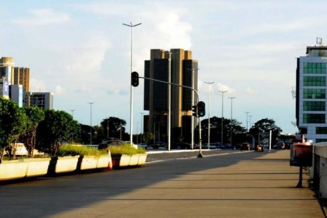 Centro de Brasília, em 3 de abril de 2020 - (crédito: Carlos Vieira/CB/D.A. Press)