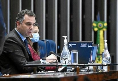 Rodrigo Pacheco (DEM-MG), presidente do Senado: Casa se prepara para votar em segundo turno -  (crédito: Marcos Oliveira/Agência Senado)