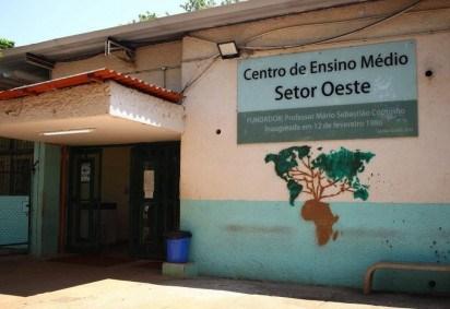 Centro de Ensino Médio Setor Oeste está entre as escolas públicas que permanecerão fechadas na volta às aulas remota -  (crédito: Nicolas Braga/Esp. CB/D.A Press)