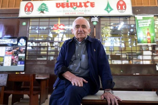Chiquinho, dono do restaurante tradicional de Brasília, o Beirute - (crédito: Ed Alves/CB/D.A Press)