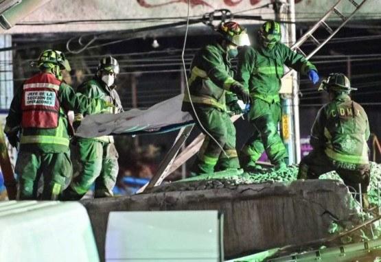 Acidente com metrô na Cidade do México