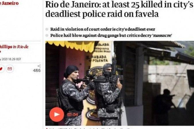 Imprensa internacional fala em 'banho de sangue' e 'carnificina' no Jacarezinho