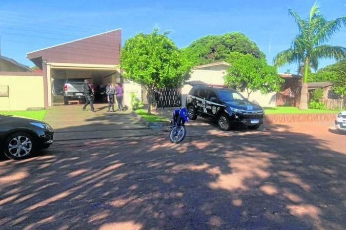 Casa onde chefe do grupo se escondeu em Mato Grosso do Sul, próximo à divisa com o Paraguai
