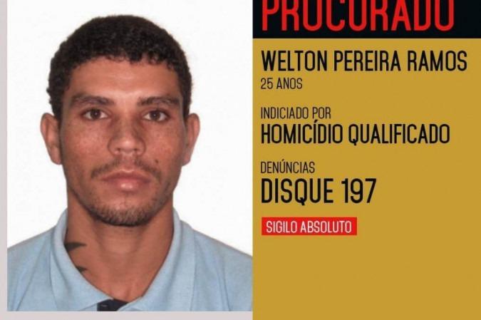 Welton está foragido e foi indiciado por homicídio qualificado - (crédito: PCDF/Divulgação)