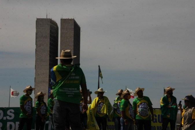 Ato pró-Bolsonaro na Esplanada no sábado (15/5) -  (crédito: Bárbara Cabral/Esp CB D.APress)