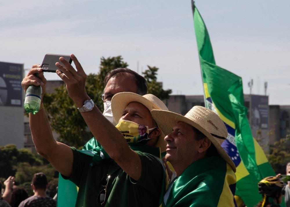 Ato pró-Bolsonaro na Esplanada no sábado (15/5)