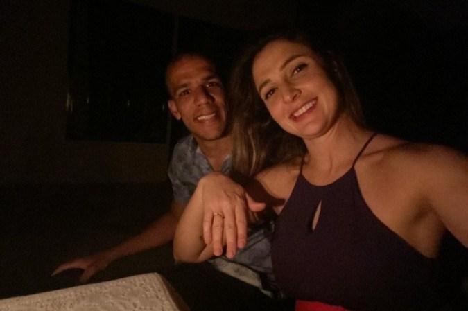 Andréa Zappalá foi pedida em casamento por Calebe Nunes no Dia dos Namorados do ano passado