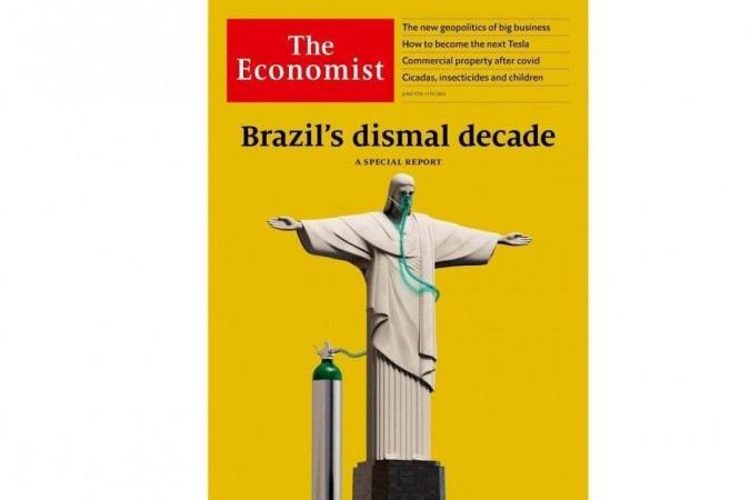 Com Cristo no oxigênio,The Economist diz que Brasil precisa tirar Bolsonaro