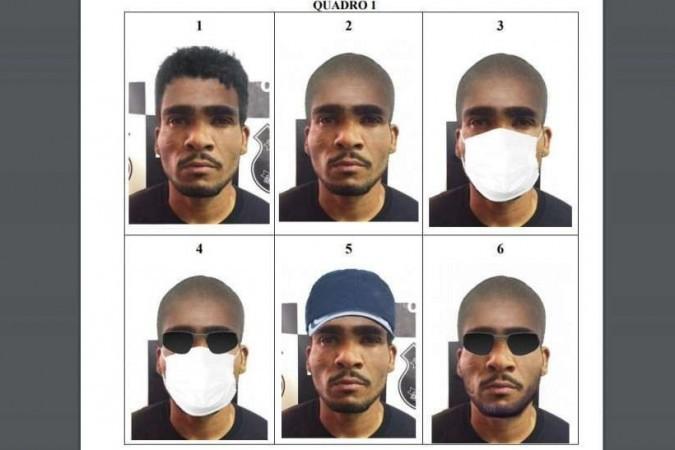 PCDF divulga projeção de disfarce facial que Lázaro Barbosa pode utilizar em fuga - (crédito: PCDF/Divulgação)