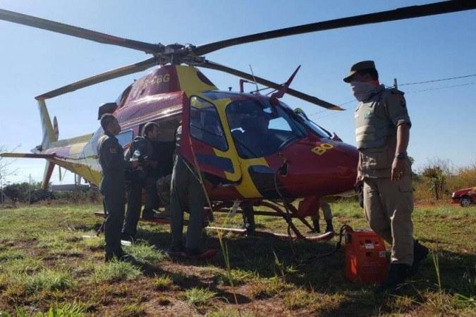 Helicópteros têm sido usados na busca por Lázaro -  (crédito: Carlos Vieira/CB/D.A Press)