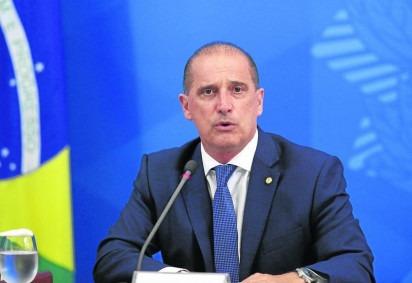 O ministro Onyx Lorenzoni disse que o deputado federal Luis Miranda, apoiador do governo, vai pagar pela traição ao presidente -  (crédito: Alan Santos/PR - 3/4/20)