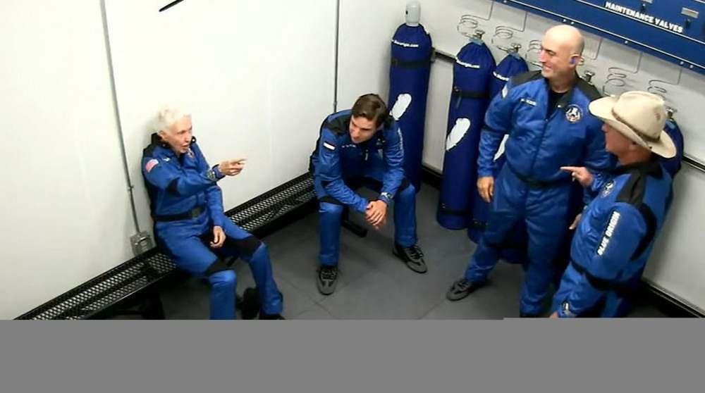 Jeff Bezos em voo ao espaço