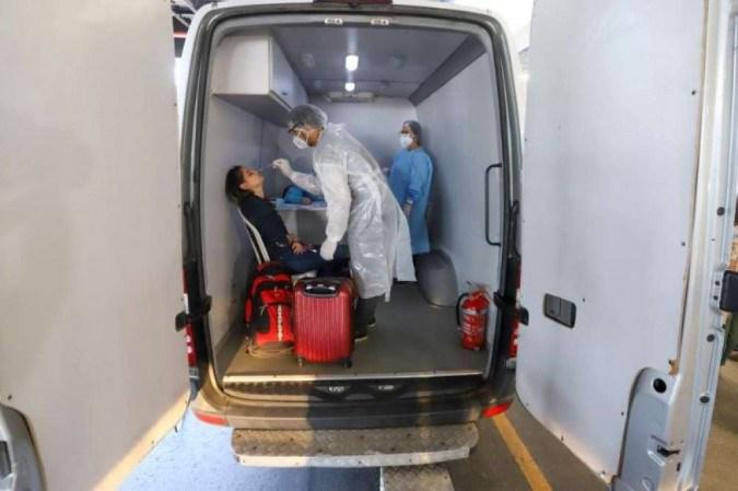 O Centro de Testagem Covid-19 para Viajantes foi instalado pela Secretaria da Saúde do Ceará (Sesa) no Aeroporto de Fortaleza em julho -  (crédito: Divulgação/Governo do Ceará)