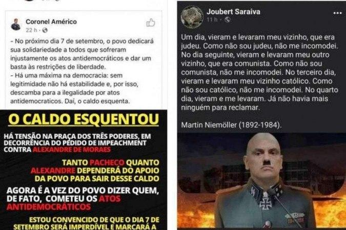 Coronel Aleksander Lacerda faz ameaças ao STF nas redes sociais
