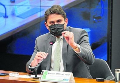 Relator do Orçamento de 2022, Juscelino pretende autorizar o Poder Executivo a utilizar a reforma do Imposto de Renda para financiar o novo programa -  (crédito: Pablo Valadares/Câmara dos Deputados - 8/7/21 )