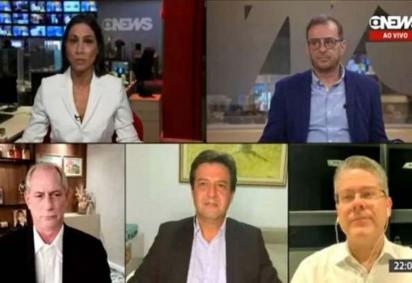 Ciro Gomes (PDT), Luiz Henrique Mandetta (DEM) e Alessandro Vieira (Cidadania) participaram de debate na noite deste domingo (26/9) -  (crédito: GloboNews/Reprodução)