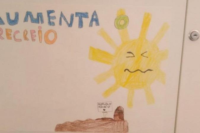 Desenho de estudante da Escola da Serra