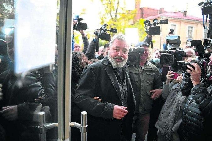 Muratov, editor do Novaya Gazeta: assassinatos não o intimidaram - (crédito: Natalia Kolesnikova/AFP)
