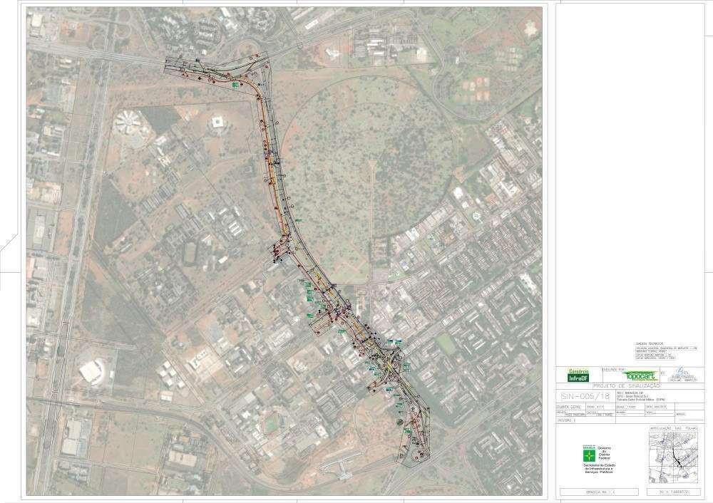 Projeto da Secretaria de Obras para corredor excluviso para ônibus no Setor Policial Militar