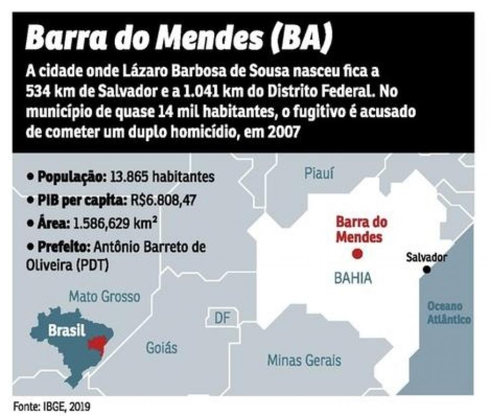 Mapa e características do município de Barra do Mendes, na Bahia